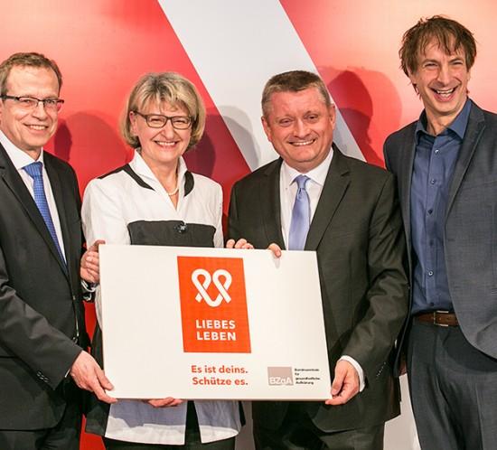 BZgA, LIEBESLEBEN, Ingolf Lück, Hermann Gröhe, Heidrun Thaiss, Volker Leienbach